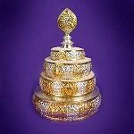 Mandala - Silver & Gold Plate